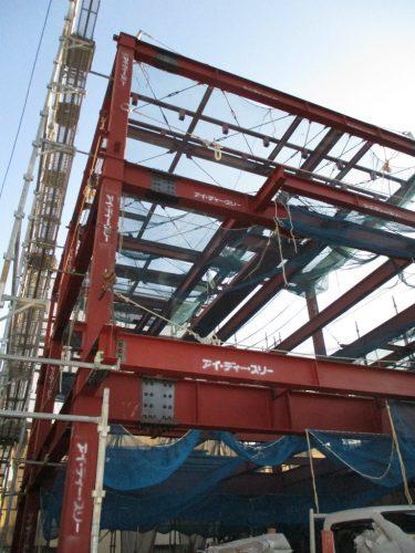 《予約制》重量鉄骨3階建て 鉄骨工事中見学会