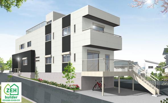 重量鉄骨3階建住宅 構造見学会