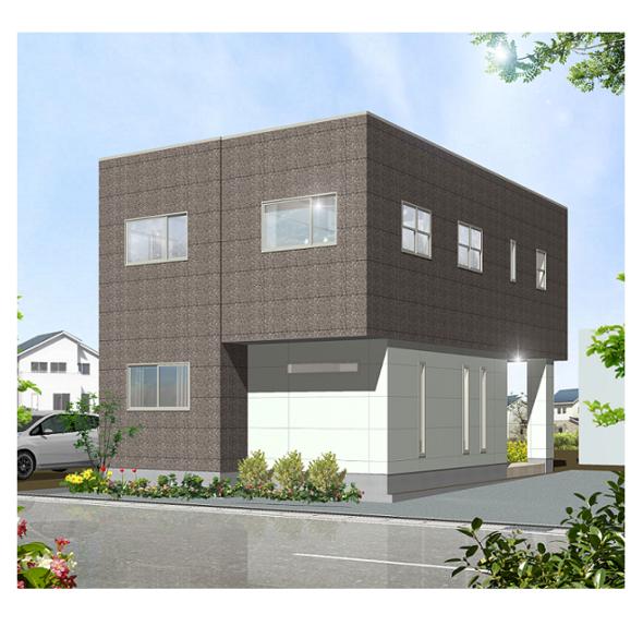 事務所併用重量鉄骨2階建て住宅 構造見学会