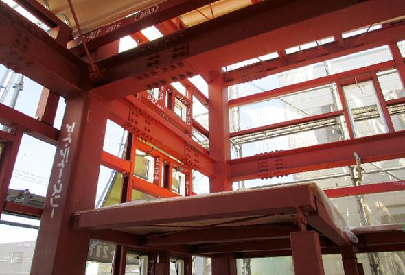 重量鉄骨造2.5階建住宅 構造見学会