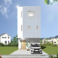 「広がる2階・・・オーバーハングの家」重量鉄骨3階建