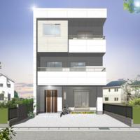 低燃費で夏涼しく冬暖かく暮らす健康住宅  重量鉄骨3階建