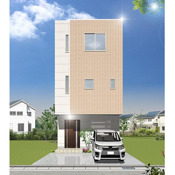 重量鉄骨3階建て二世帯住宅 完成見学会
