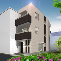 狭小間口と変形の敷地を有効活用!!重量鉄骨3階建住宅