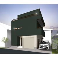 空と繋がるルーフバルコニーのある二世帯住宅 構造見学会