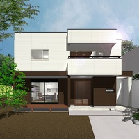 木造2階建て二世帯住宅 構造見学会