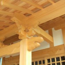 一間社流造りの神社本殿を建築 静岡市清水区