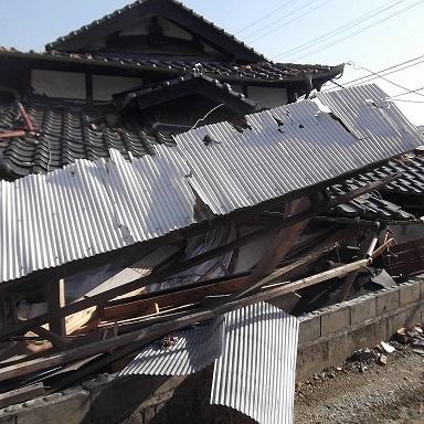 熊本地震での重量鉄骨造の現状視察に行ってきました。