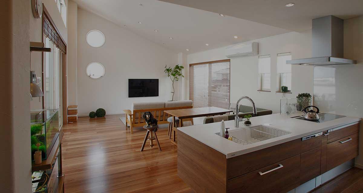 重量鉄骨構造だから出来る、津波・地震にも強い家。